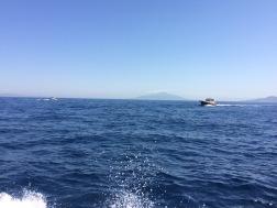 Stern view, Capri boat trip.